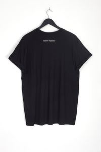 NIGHT ADDICT BLACK LIMITED OVERSIZED T-SHIRT BACK