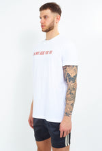 SLOGAN T-SHIRT - WHITE AND RED