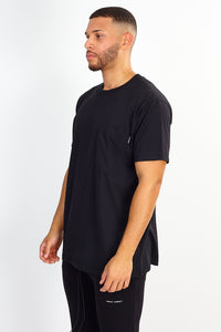 NIGHT ADDICT MAP BACK PRINT TEE - BLACK
