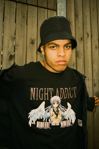 NIGHT ADDICT BLACK DIAMONTE ANIME TEE DETAIL