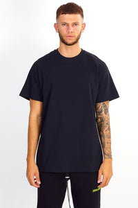 NIGHT ADDICT BLACK GLOBAL TEE FRONT