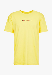 NIGHT ADDICT YELLOW 'CHANGES' T-SHIRT INVISIBLE MANNEQUIN