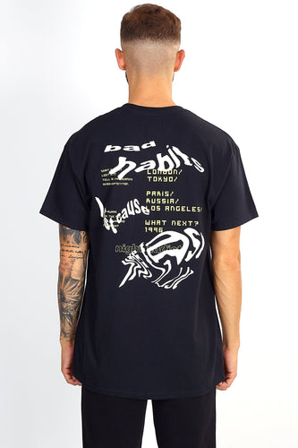 'BAD HABITS' BACK PRINT TEE - BLACK
