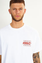 NIGHT ADDICT 'ABSENT' BACK PRINT TEE - WHITE