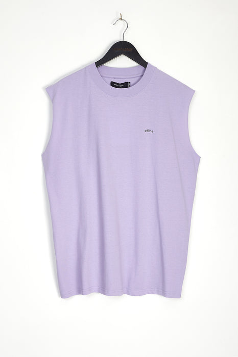 NIGHT ADDICT OVERSIZED LILAC 'OFFLINE' VEST FRONT