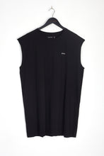 NIGHT ADDICT OVERSIZED BLACK 'GLOBAL' VEST FRONT