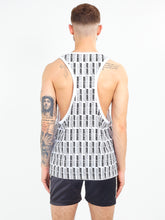 NIGHT ADDICT OVERSIZED ALL OVER PRINT VEST - WHITE