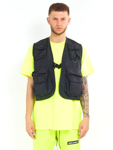NIGHT ADDICT UTILITY VEST - BLACK