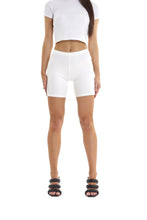 RIBBED SHORTS - CREAM