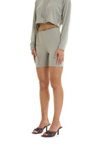 RIBBED SHORTS - SAGE