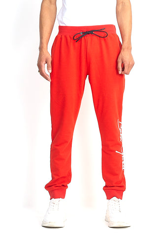 'BORN GLOBAL' JOGGERS - RED