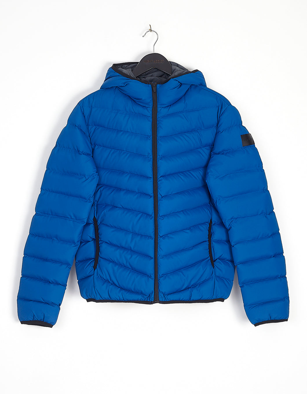 NIGHT ADDICT BLUE BUBBLE JACKET FRONT