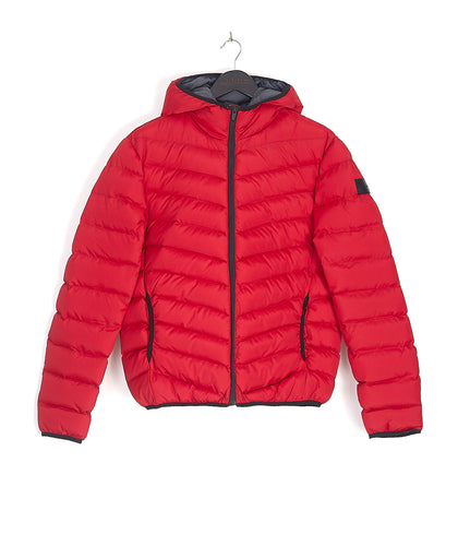 NIGHT ADDICT RED BUBBLE JACKET FRONT
