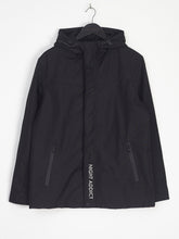 NIGHT ADDICT BLACK HOODED JACKET FRONT
