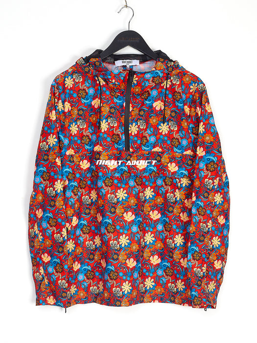 FLORAL WINDBREAKER - RED