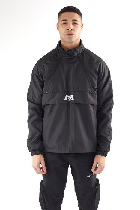 FUNNEL NECK WINDRUNNER - BLACK