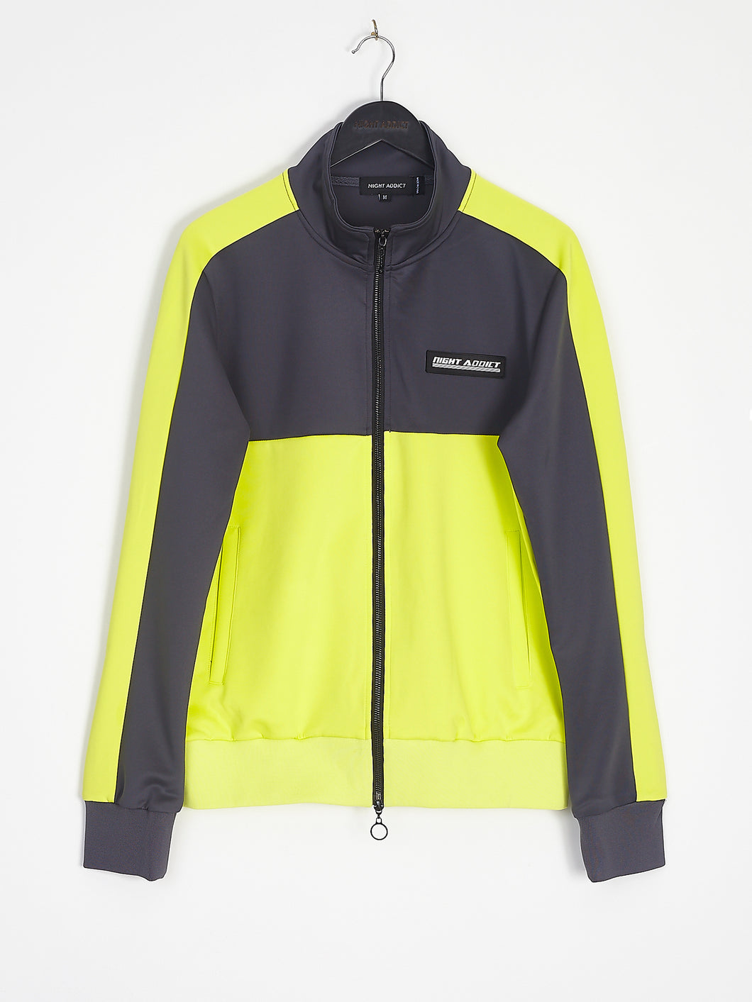 NIGHT ADDICT NEON PANEL TRACKSUIT TOP