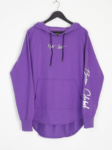 NIGHT ADDICT PURPLE 'BORN GLOBAL' HOODIE FRONT