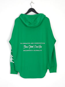 NIGHT ADDICT GREEN 'BORN GLOBAL' HOODIE BACK