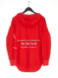 NIGHT ADDICT RED 'BORN GLOBAL' HOODIE BACK