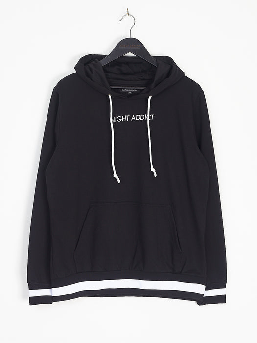 NIGHT ADDICT BLACK CLASSIC HOODIE FRONT