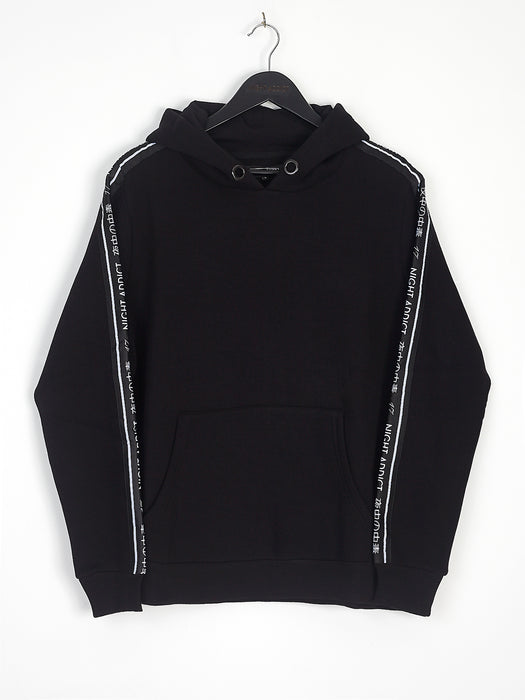 NIGHT ADDICT SIDE TAPE HOODIE