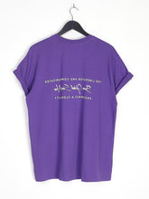 REVERSE BACK PRINT TEE - PURPLE
