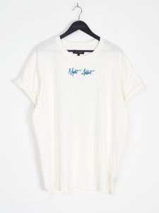 NIGHT ADDICT 'BORN GLOBAL' WHITE BACK PRINT TEE FRONT