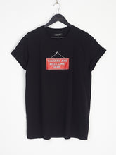 NIGHT ADDICT BLACK 'SINNERS ARE WELCOME HERE' TEE FRONT