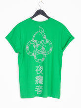 NIGHT ADDICT SNAKE PRINT TEE - GREEN