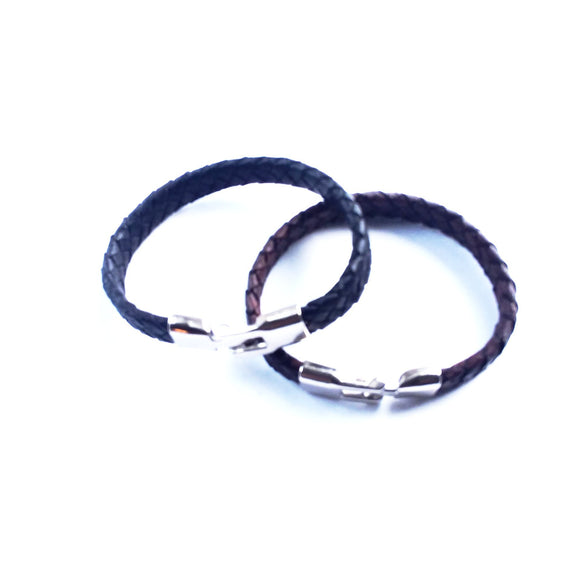 Men & Women Flat Braided Leather Bracelet - alcobacco-store