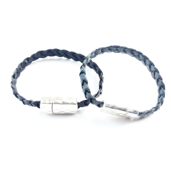 Unisex Flat Braided Leather Bracelet - alcobacco-store