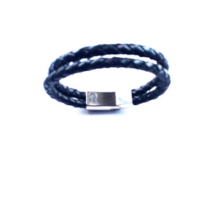 Men Round Double Braided leather Bracelets - alcobacco-store