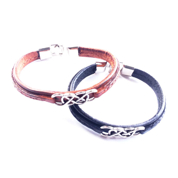 Double Infinity Handcrafted Leather Bracelet - alcobacco-store