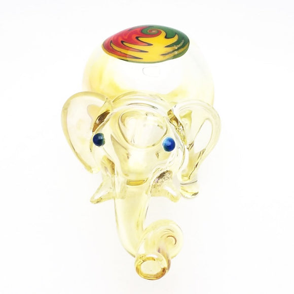 Large Collectible Elephant Glass Hand Pipe