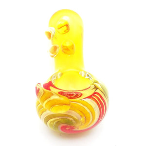 Lipped Grip Glass Hand Pipe - alcobacco-store