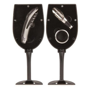 Wine Gift Set In Wine Glass Shaped Case - alcobacco-store