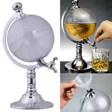 Acrylic Globe Alcohol Dispenser