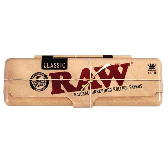 Raw Classic Metal Case Tin King Size - alcobacco-store