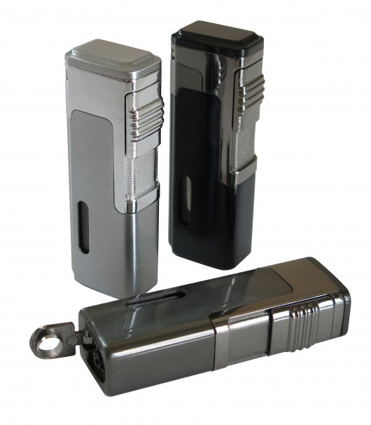 Tsunami - Quad Torch Red Flame Cigar Lighter Retractable Punch