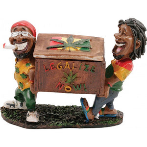 Legalize Now Two Jamaican Men Ashtray - alcobacco-store