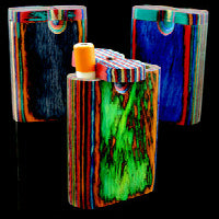 Large Multicolor Wood Dugout - alcobacco-store
