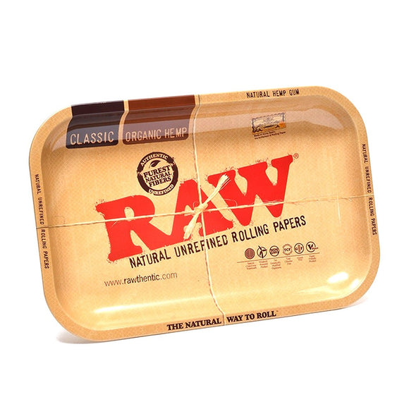 Large Raw Metal Rolling Tray - alcobacco-store