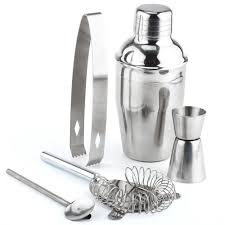 5 Pieces Stainless Steel Cocktail Shaker Set - alcobacco-store