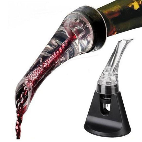 Acrylic Wine Pourer with Base - alcobacco-store