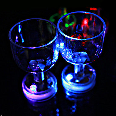 Color Flashing Shot Glasses With LED Flash Light