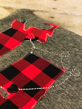Load image into Gallery viewer, Buffalo Plaid Personalized Long Distance Blanket