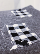 Load image into Gallery viewer, White and Black Plaid Personalized Long Distance Blanket