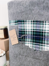Load image into Gallery viewer, Oklahoma Custom State Blanket | Earthy Plaid