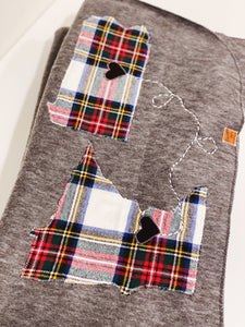 Colorful Plaid Personalized Long Distance Blanket